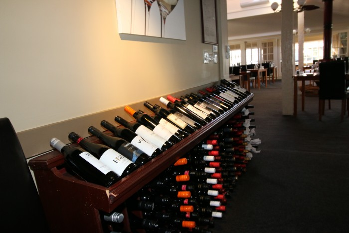 A number of wine are on display at Archie's on the Park, the best restaurant in Armidale