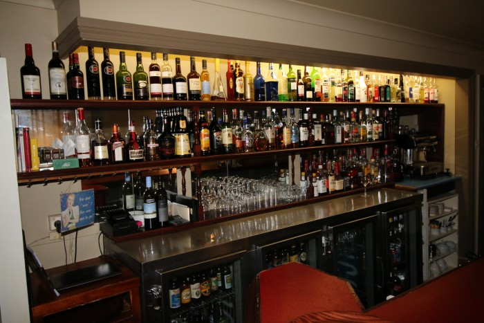 A large selection of alcohol enticing guests at the best restaurant in Armidale