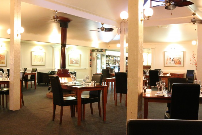 An inviting setting from within the best restaurant in Armidale, Archie's on the Park