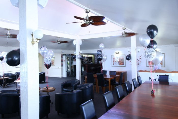 Archie's Armidale restaurant is decorated for a birthday celebration