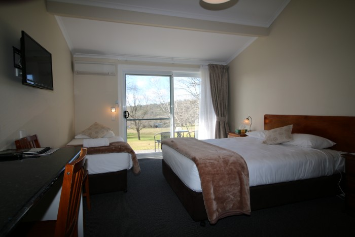 Viiew through the room at Moore Park Inn, luxury accomodation with stunning country views.